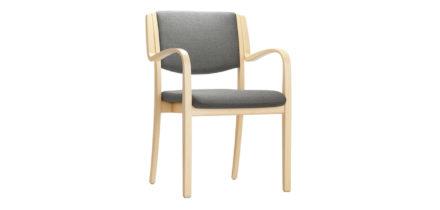 Grijs beklede stoel Opus 628A